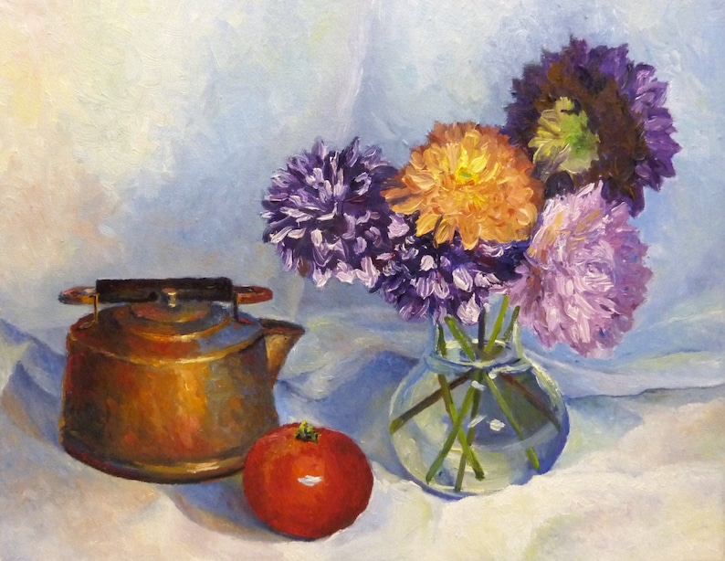 Still Life Oil Painting Impressionist Painting on Canvas image 0