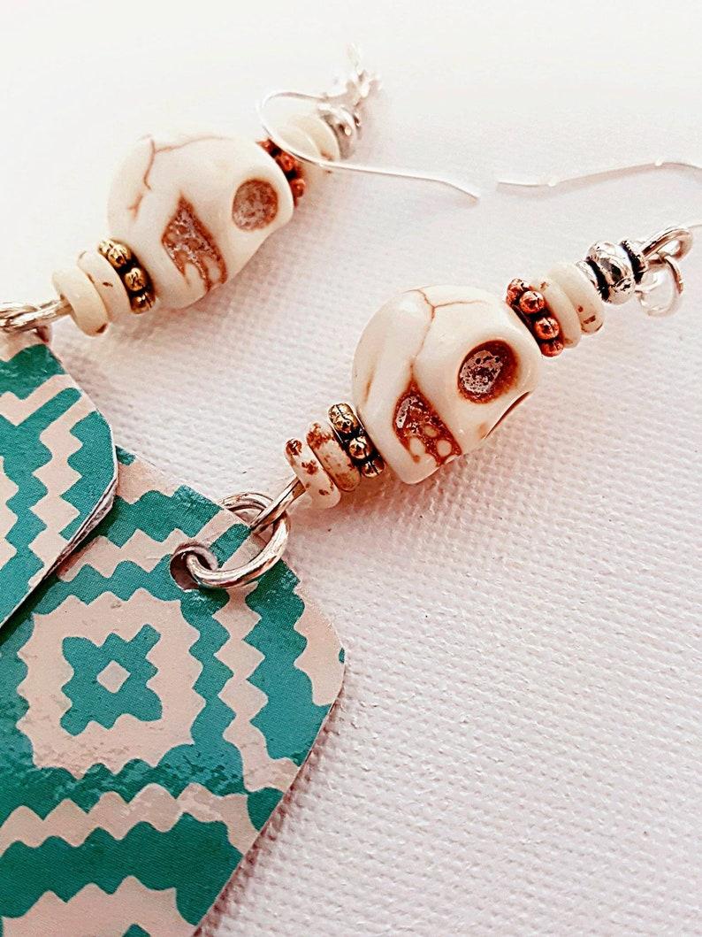Tribal earrings  Hippie Style  Boho Jewelry  Dangle image 0