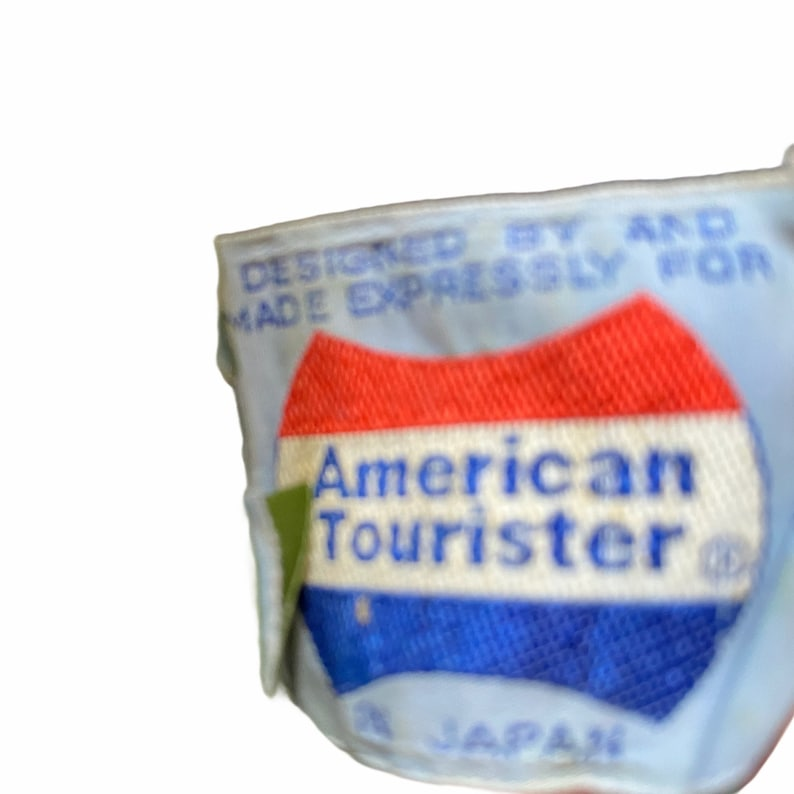American Tourister Vintage 70s Olive Green Grainy Leather Shoulder Overnight Bag Travel Mod