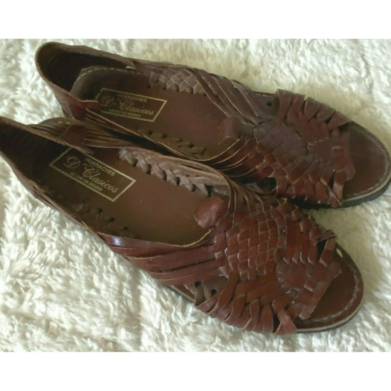 D'CLASICOS Huaraches Mexican Woven Leather Sandals