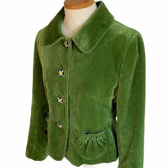 Charles Gray London Green Velvet Jacket Fitted Bla