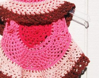 Ring Around the Rosie Boho Child's Vest in Pinks