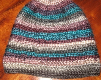 Slouchy Hat Beanie in TealBerry/Young Children/Toque