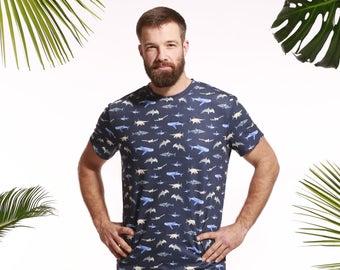 Men's shark T-shirt, shark tee, fish T-shirt