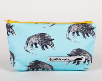 415636c095c Handmade armadillo pouch, armadillo gifts, turquoise pouch