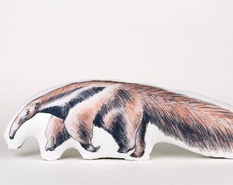Handmade anteater pillow, anteater cushion, anteater toy