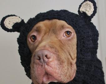 Black Bear Dog Snood MADE TO ORDER