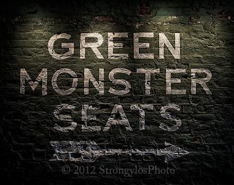 Green Monster Seats,Boston Red Sox,2018 World Series Champions,8x12,sports,baseball,man cave decor
