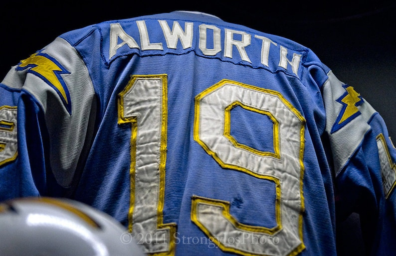96f41256c San Diego Chargers Vintage Football Jersey Lance Alworth