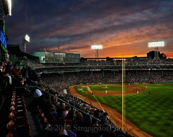 Sunset at Fenway, Home of the Boston Red Sox, fine art photography, StrongylosPhoto