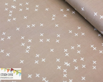 Shroom Grey Winks From Birch Organic Fabric's Mod Basics 3 Collection