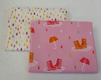 6e2ccd49b7f Rainy Day HALF YARD BUNDLE from Michael Miller s Pitter Patter Collection  100% Cotton - 2 Fabrics