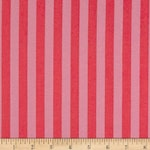 "TULA PINK 1/2"" Tent Stripes in Poppy From True Colors Pom Poms and Stripes Collection by FreeSpirit Fabric"