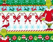The Grinch Multi Stripes from How The Grinch Stole Christmas 6 from Dr Seuss Enterprises - 100 Cotton