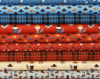 431802a363e8f Cowboy SUPER Bundle from Robert Kaufman Fabric s Coyote Cowboy Collection  by Andie Hanna- 14 Fabrics Total- You Choose Cut