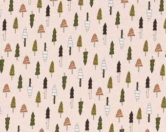 Northcott Winter Birds 21266 74 Packed Pines BTY Cotton Fabric