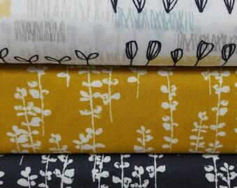 Sow & Sew ORGANIC BUNDLE from Cloud 9 Fabric 100% Cotton (3 Fabrics)