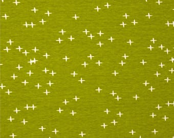 Grass Green Winks From Birch Organic Fabric's Mod Basics 3 Collection