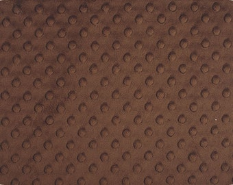 Sold By the Yard Minky Dimple Dot Fabric Brown Color