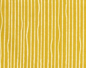 Sun Yellow Yarn Stripes From Birch Organic Fabric's Farm Fresh Collection by Jay-Cyn Designs