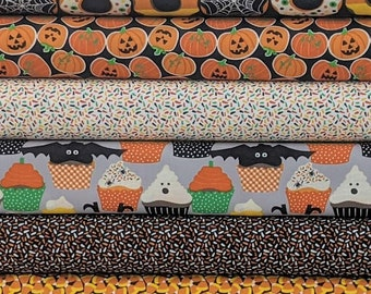 Trick or Treats HALLOWEEN BUNDLE SET from Boolicious Collection by Free Spirit  - 6 Fabrics Total - 100% High Quality Cotton