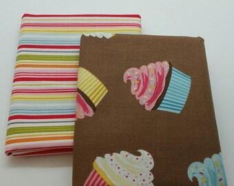 50% OFF CLEARANCE SALE Cupcake Duo 2 Half-Yard Bundle, 1 Yard Total