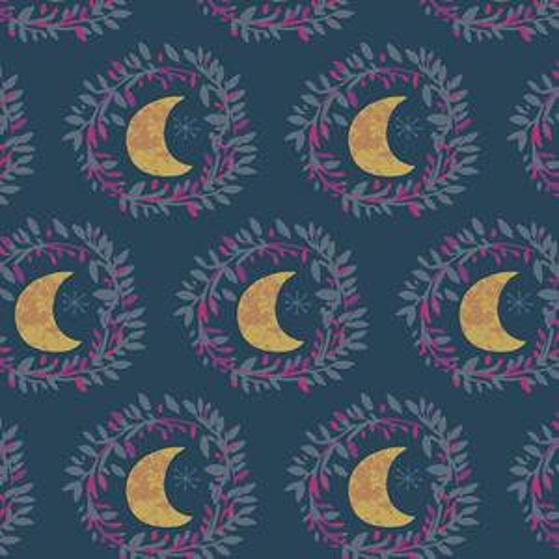 Art Gallery Fabric Lunar Illusion Flame from Mystical Land image 0