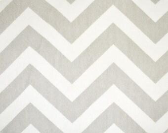 Silver & White Chevron Minky From Shannon Fabrics
