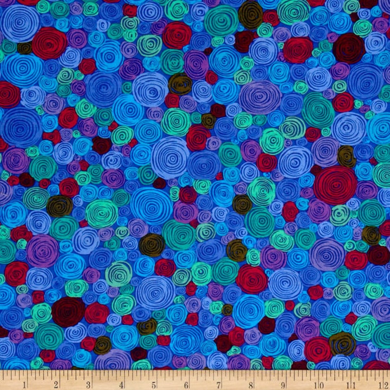 Rolled Paper in Blue From Kaffe Fassett Collective Classics Collection by FreeSpirit Fabric Kaffe Fassett Fabric by the Yard