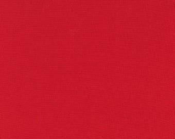 Poppy Red Solid KONA COTTON from Robert Kaufman Fabrics - K001-1296