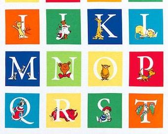 Dr Seuss ABC Panel from Robert Kaufman