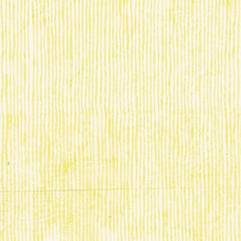Buttercup Yellow Skinny Stripes Hand-Dyed Batik made in Bali From Bali Fabrics Collection by Hoffman California Fabrics