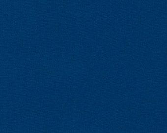 "End of Bolt- 9""x44"" Prussian Blue Solid KONA COTTON from Robert Kaufman Fabrics - K001-454"