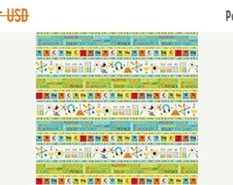 25% OFF CLEARANCE SALE Science Stripes from Northcott's Little Genius Collection by Deborah Edwards
