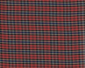 50% OFF CLEARANCE SALE Albert Tartan Plaid from Spechler Vogel (Red, Black, White, Blue, and Yellow)