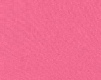 Camellia Pink Solid KONA COTTON from Robert Kaufman Fabrics - K001-190