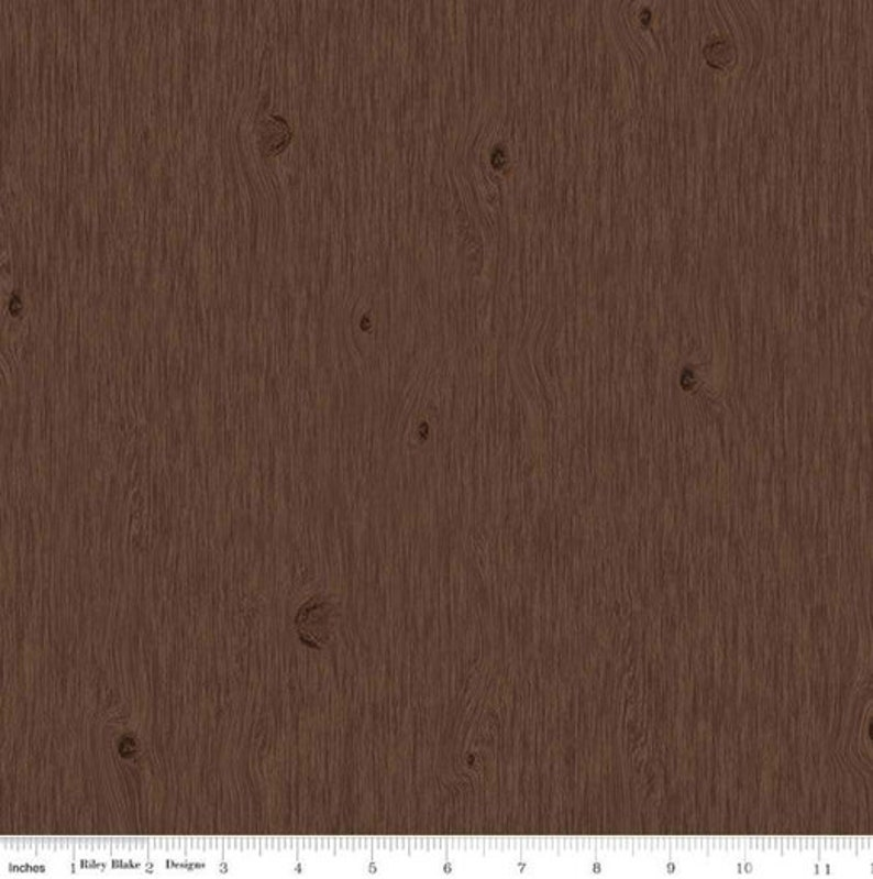 Wood Grain Fabric Brown Grain From Pinewood Acres Collection image 0