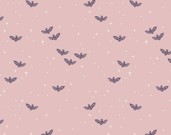 Halloween Fabric- Winging it Bright Bats from Spooky 'n Sweet Collection by Art Gallery Fabrics - 100% Cotton
