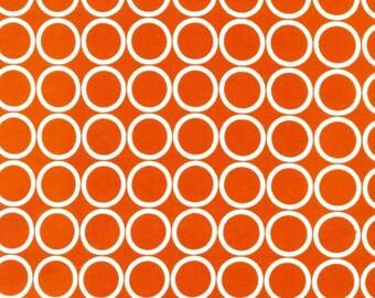 "END OF BOLT- 10""X44"" Orange Circles Metro Living From Robert Kaufman"