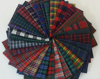 26 Half-Yards  of Tartan Plaids Fabric