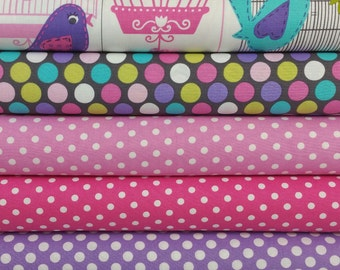 Sing Song Birdcages Bundle (5 Fabrics)