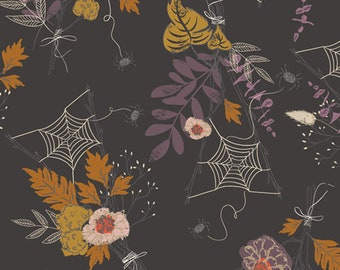 Halloween Fabric- Cast a Spell Spider Webs from Spooky 'n Sweet Collection by Art Gallery Fabrics - 100% Cotton