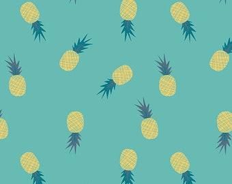 Sirena Collection's Ananas Aqua From Art Gallery by Jessica Swift 100% Cotton Aquamarina SRN-5356