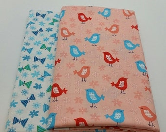 25% OFF CLEARANCE SALE Birdie Bundle 2-Yard Bundle from Robert Kaufman Fabrics (Bundle B) 2 Yards Total