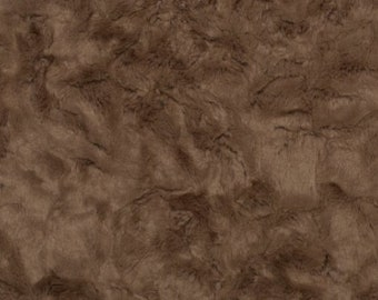 Cocoa Luxe Cuddle Marble Minky From Shannon Fabrics- 12 mm pile