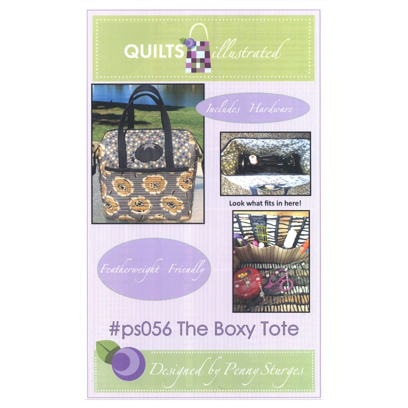 The Boxy Tote Pattern includes 2 Metal Stays from Quilts image 0