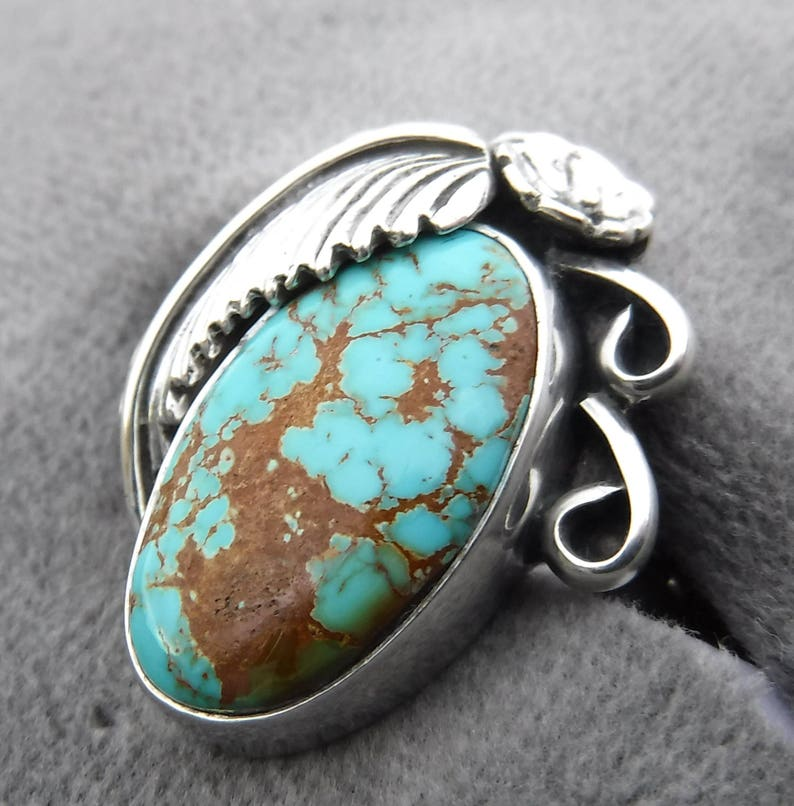 NATURAL  ROYSTON  TURQUOISE  Ring   #1066
