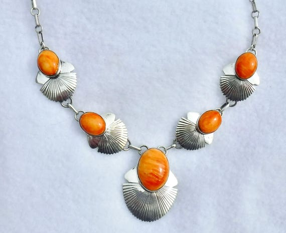 Bright  Orange  Spiny  Oyster  Pendant    # 1049-w