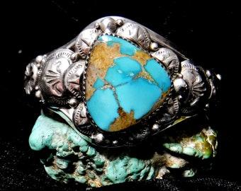 Natural Royston Turquoise Bracelet   #1611-P
