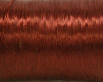Small vintage spool Burgundy acetate fiber
